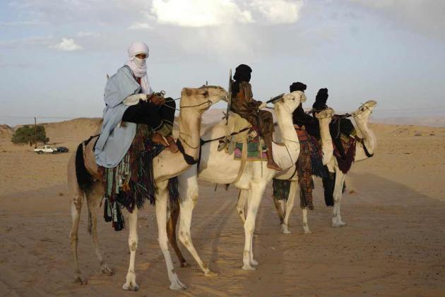 Tuareg on camels near Ghat, south-western Libya, September 2013 (photo: Valerie Stocker)