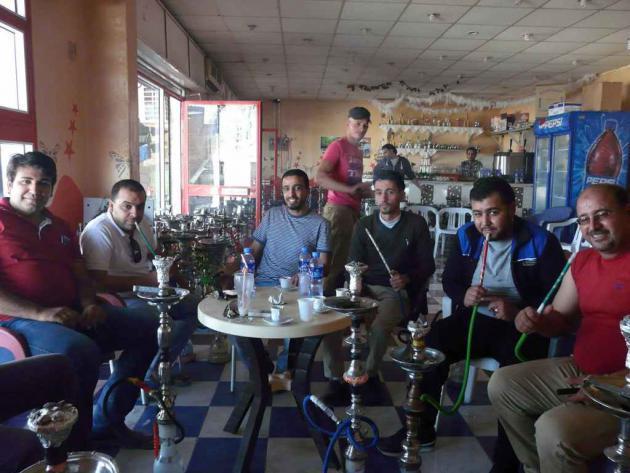 Men in a café in Tobruk, eastern Libya, May 2014 (photo: Valerie Stocker)