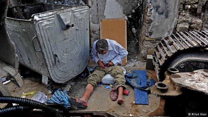 Drug addict (photo: Milad Alaei)