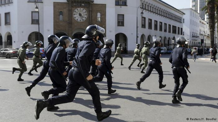 Moroccan police officers (photo: Reuters/Y. Boudlal)