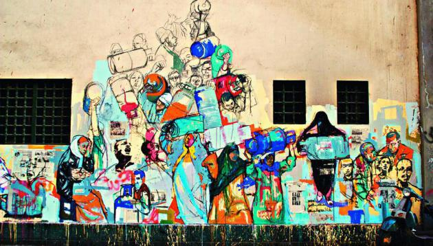 """Image from the book """"Walls of Freedom"""" by Basma Hamdy and Don Karl"""