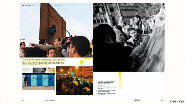 """Two pages from the book """"Walls of Freedom"""" by Basma Hamdy and Don Karl (copyright: Don Karl)"""