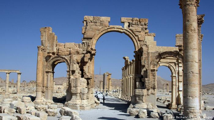 Hadrian's Arch at the Great Colonnade (photo: Louai Beshara/afp/Getty Images)