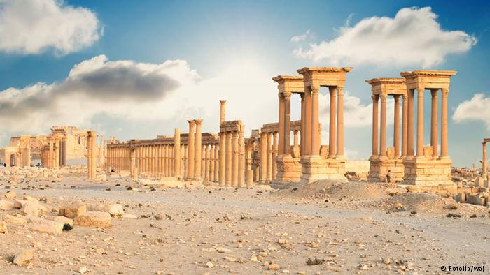 The Tetrapylon of Palmyra, a roman monument (photo: Fotolia/waj)