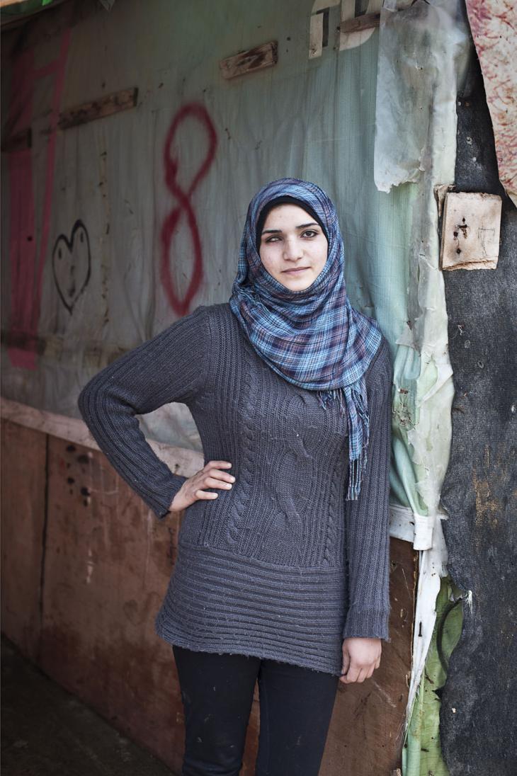 Hanadi, aged 20 (photo: Kai Wiedenhofer)