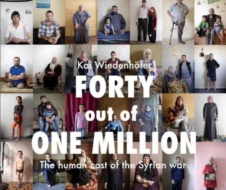 "Cover of the booklet ""Forty out of one million"" by Kai Wiedenhofer"
