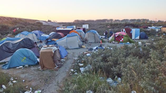 Refugee camp in Calais (photo: DW/H. Tiruneh)