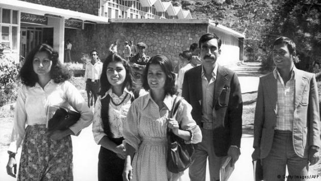 Afghan students in 1981 (photo: Getty Images/AFP)