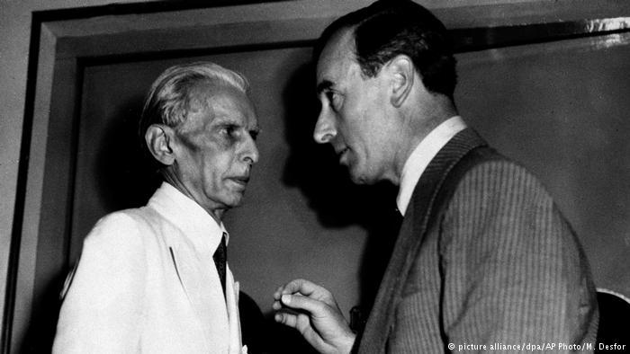 Lord Louis Mountbatten and Muhammad Ali Jinnah (photo: picture-alliance/dpa/AP Photo/M. Desfor)