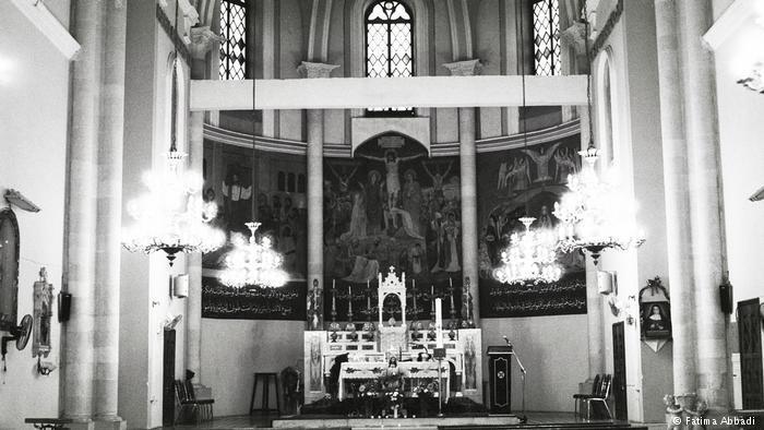 Interior of St. George's Church, Al-Salt (photo: Fatima Abbadi)