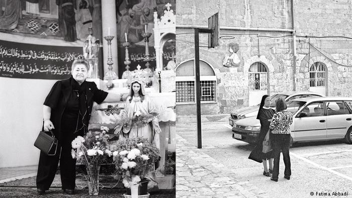 Inside and outside St. George's Church (photo: Fatima Abbadi)