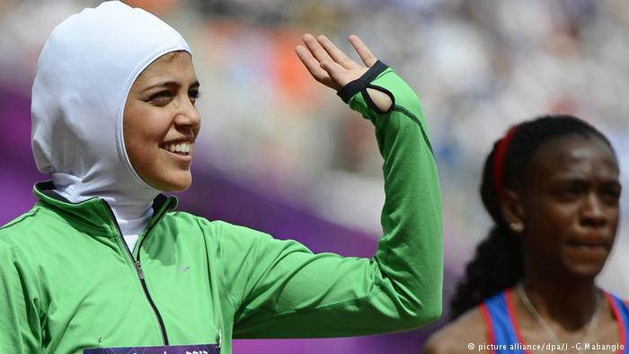 Female Saudi athletes at the 2012 Olympics in London (photo: picture-alliance/dpa/J.-G. Mabanglo)
