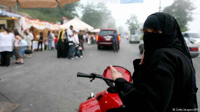 Saudi woman on a motor scooter (photo: Getty Images/AFP)