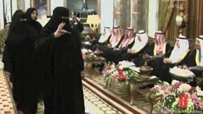 Female parliamentarians in the Shura in Riyadh (photo: REUTERS/Saudi TV/Handout)