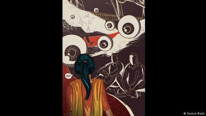Women in Public Spaces 2 by the Pakistani artist and designer Shehzil Malik (copyright: Shehzil Malik)