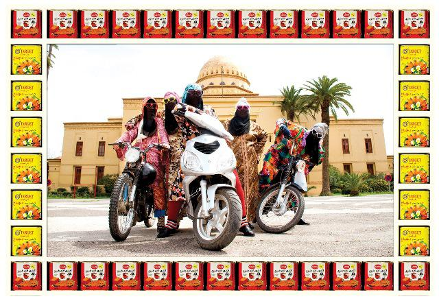 Kesh Angels © Hassan Hajjaj, Courtesy of Taymour Grahne Gallery, New York. Don't Panic, I'm Islamic (Saqi Books 2017)