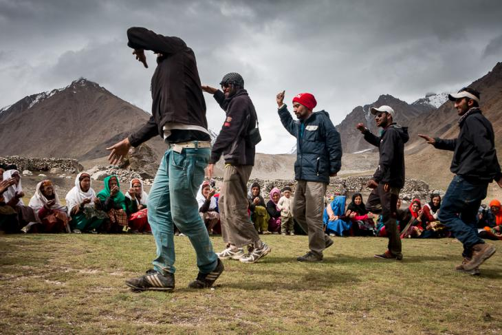 Local Wakhi dancing for a local festival in high altitude plateau (photo: Camille Del Bos)