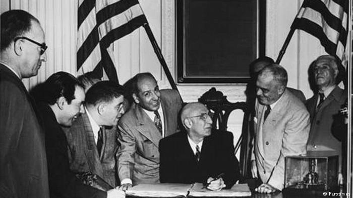 The Mossadegh administration, Iran, 1953
