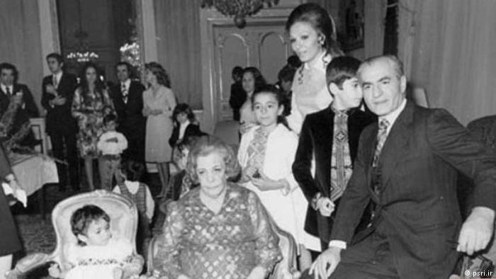 A private shot of the Shah, family and friends