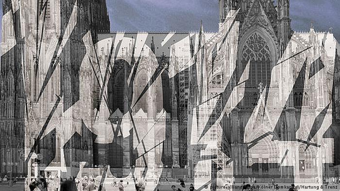 Light installation at Cologne Cathedral (photo: picture-alliance/dpa/Kolner Domkapitel/Hartung & Trenz)