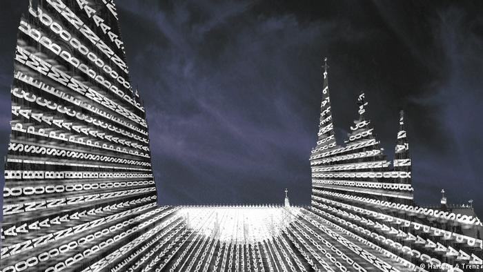 Dona Nobis Pacem illumination at Cologne Cathedral (photo: Hartung & Trenz)