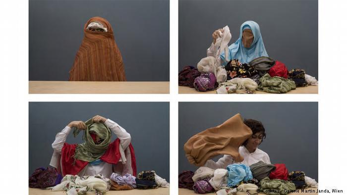 Headscarf exhibition in Vienna (photo: Galerie Martin Janda, Vienna)