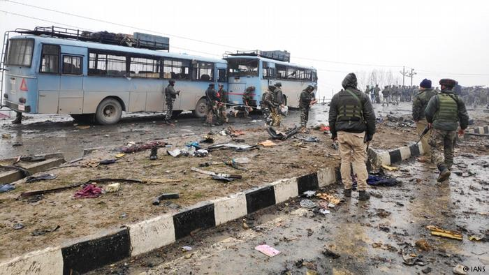 Attack in Pulwama, Kashmir (photo: IANS)