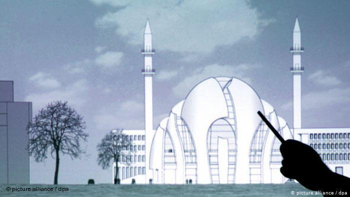 Model of the mosque in a presentation (photo: picture-alliance/dpa)