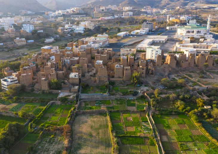 Ancient village on the outskirts of Dhahran Al Janub, Saudi Arabia (photo: Eric Lafforgue)
