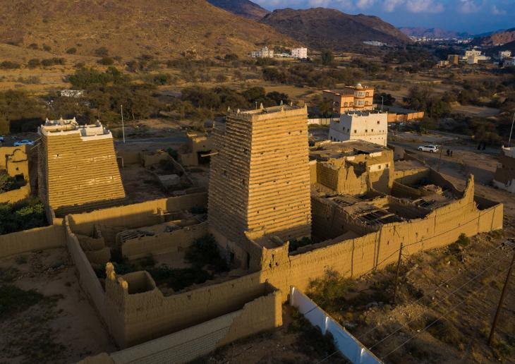 Ancient village in Asir province, Saudi Arabia (photo: Eric Lafforgue)