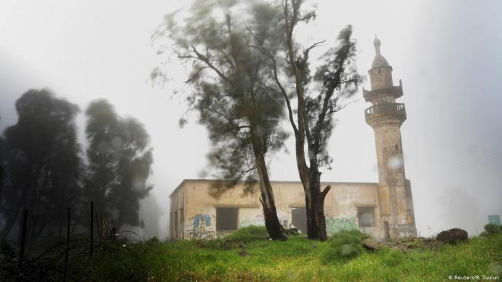 An abandoned mosque in the Golan Heights, in territory that Israel captured from Syria and occupied in the 1967 Middle East war (photo: Reuters/R. Zvulun)