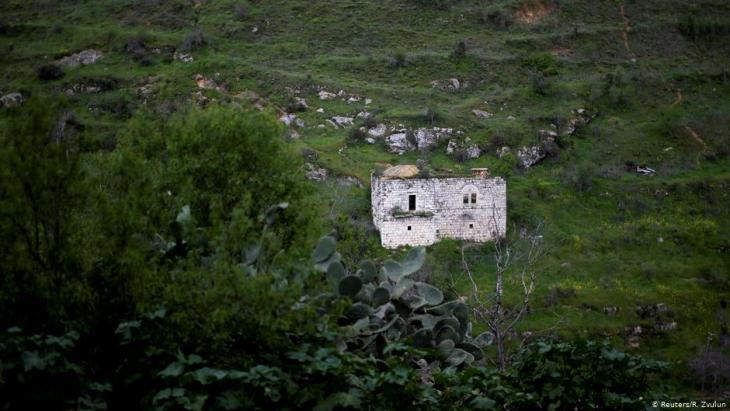 A house in Lifta, a ruined Palestinian Arab village (photo: Reuters/R. Zvulun)