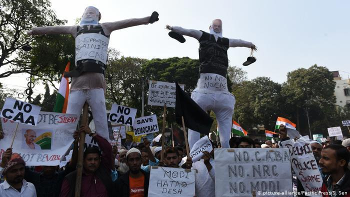 Protests in Assam against the new citizenship law (photo: picture-alliance)