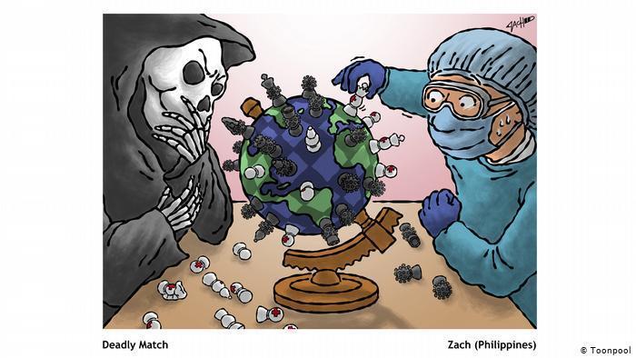 Cartoon entitled Deadly Match (Zach, Phillippines)
