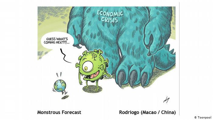 Cartoon entitled Monstrous Forecast (Rodriogo, China)