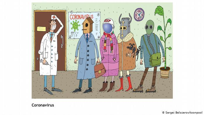Coronavirus cartoon (Sergei Belozerov/toonpool, Russia)