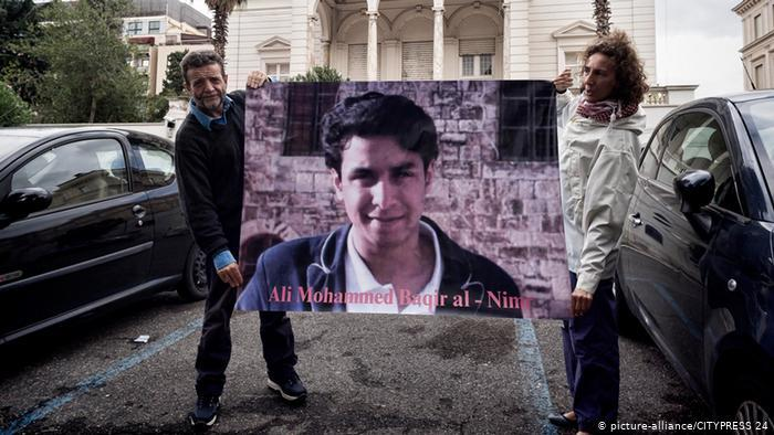 Peitioning the release of Ali Mohammed al-Nimr (photo: picture-alliance/CITYPRESS 24)