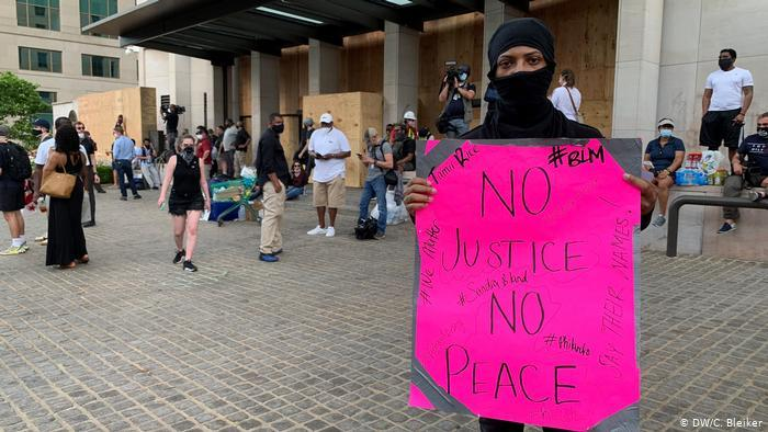 Protests in USA following the death of George Floyd (photo: DW/C. Bleiker)