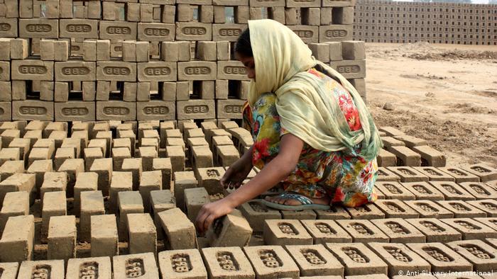 Worker in a brick factory held in debt bondage