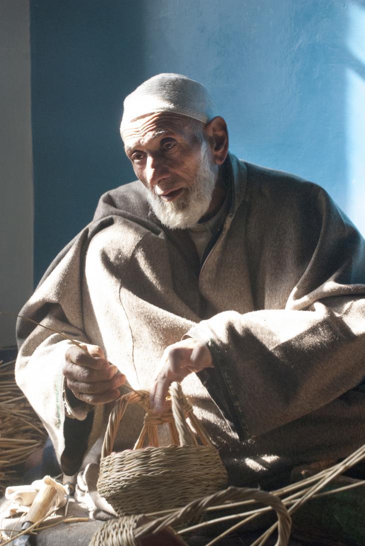 Mohammed Sultan Khan, ustaad of carpet weaving (photo: Sugato Mukherjee)
