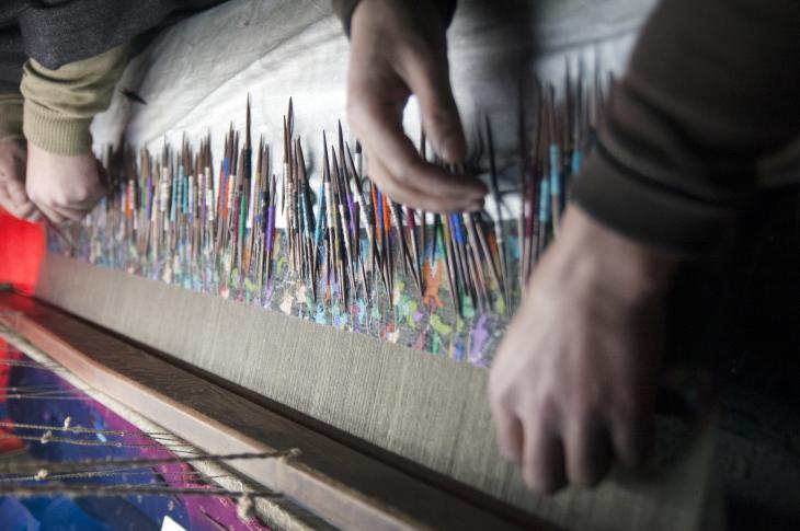 Kani weavers at work (photo: Sugato Mukherjee)