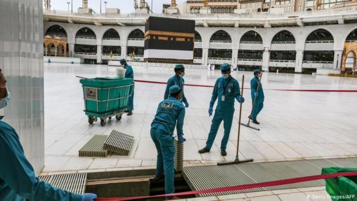 Preparations at the Grand Mosque in Mecca (photo: Getty Images/AFP)