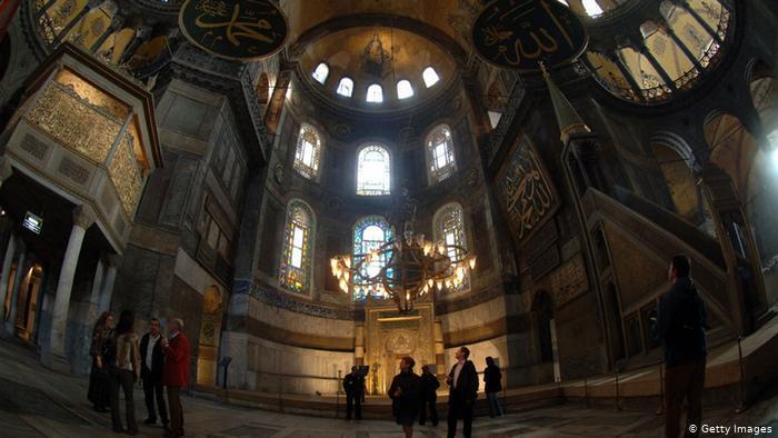 Interior of Hagia Sophia (photo: Burak Kara/Getty Images)