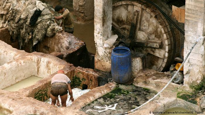 Chouara tannery in the heart of Fez (photo: picture-alliance/blickwinkel/E. Topcu)