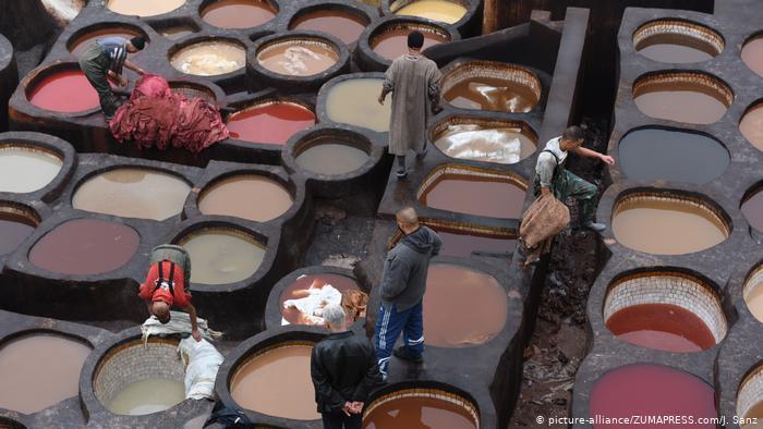 Chouara tannery in the heart of Fez (photo: picture-alliance/ZUMAPRESS.com/J. Sanz)