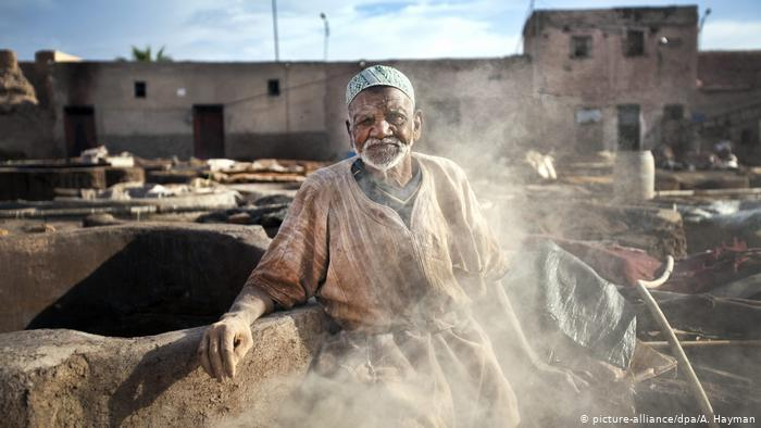 Chouara tannery in the heart of Fez (photo: picture-alliance/dpa/A. Hayman)