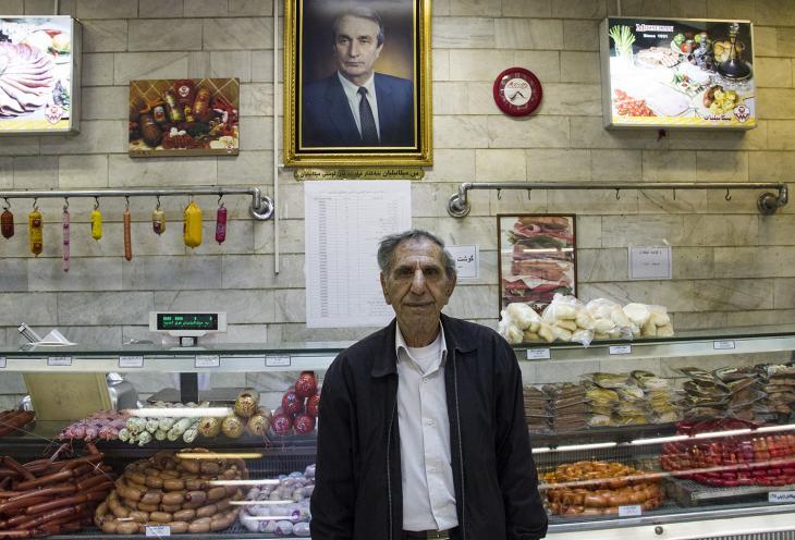 Yeron Qoucasian, one of Hasan Abad's oldest Armenian residents (photo: Changiz M. Varzi)