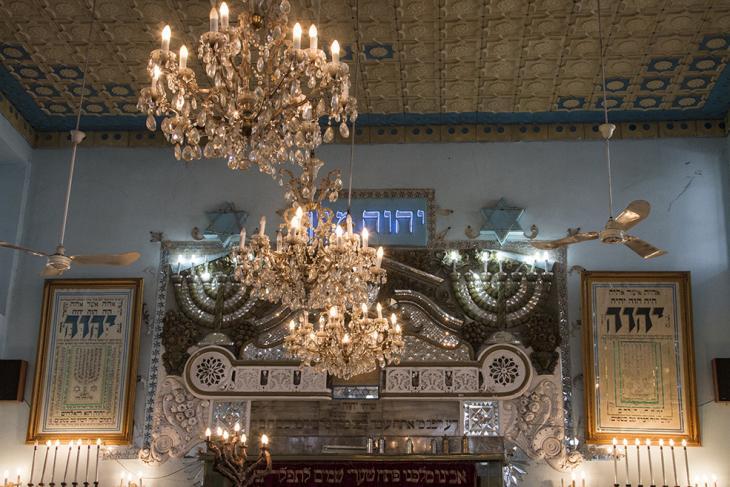 Part of the decoration inside Haim synagogue (photo: Changiz M. Varzi)