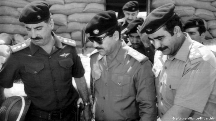 Hussein's forces bombed Iranian airports, including the one in Tehran, as well as military facilities and Iran's oil refineries. Iraqi forces met little resistance in the first week and seized the towns of Qasr-e Shirin and Mehran, as well as Iran's southwestern port of Khorramshahr, where the Shatt al-Arab meets the sea