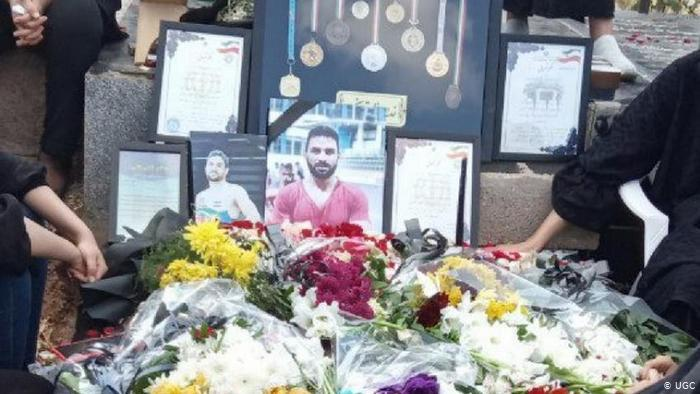 Mourning for executed wrestler Navid Afkari (photo: UGC)